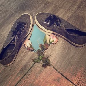 Keds grey canvas sneakers